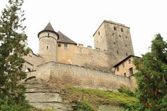 Towers and walls of castle Kost. Defend towers and walls of Gothic castle Kost in Czech Republic Royalty Free Stock Image