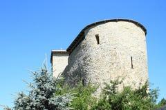 Defenda a torre do castelo Liptovsky Hradok fotografia de stock