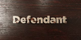 Defendant - grungy wooden headline on Maple  - 3D rendered royalty free stock image Royalty Free Stock Photos