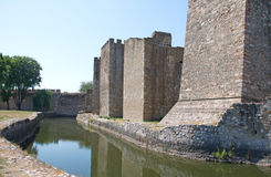 Defender channel in medieval fortress Smederevo in Serbia Stock Image