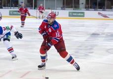 Defender of CSKA RYLOV Yakov Stock Photo