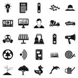 Defender of natural icons set, simple style. Defender of natural icons set. Simple set of 25 defender of natural vector icons for web isolated on white Stock Image