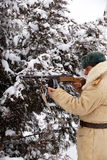 Defender of Stalingrad in a winter form Royalty Free Stock Image