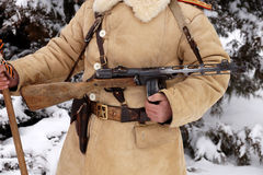 Defender of Stalingrad in a winter form Royalty Free Stock Photography