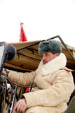 Defender of Stalingrad in a winter form Stock Photo