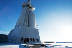 Defenders of the Soviet Arctic monument Stock Image