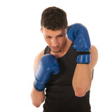Defending boxing man Stock Images
