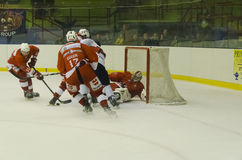 Defending the goalie Stock Photography