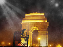 india gate at night  Royalty Free Stock Photos