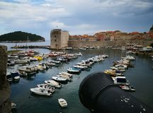 Defending the old town of Dubrovnik royalty free stock photography