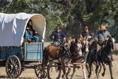 Defending the Supply Wagon Stock Photos