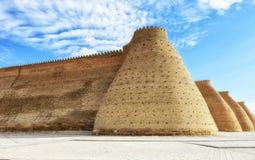 Defending walls in Buchara, Uzbekistan. Giant Defending walls in Buchara, Uzbekistan stock photo
