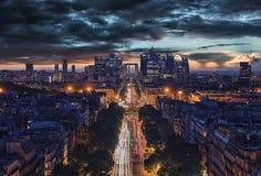 Defensa del La, distrito financiero en París Fotos de archivo libres de regalías