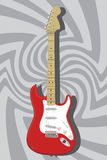 Defensa Stratocaster - vector de la guitarra Fotos de archivo libres de regalías