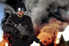 Defense against terrorism, Explosion Stock Photography