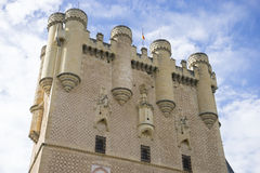 Defense, alcazar castle city of Segovia, Spain. Old town of Roma Royalty Free Stock Photography