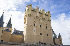 Defense, alcazar castle city of Segovia, Spain. Old town of Roma Stock Photo