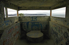 Defense Bunker by the Bay Royalty Free Stock Photography