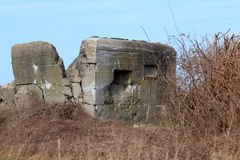 Defense bunker from WWII Stock Photography