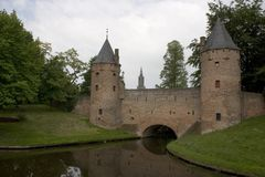 Defense gate. Old building in amersfoort, holland Stock Photography