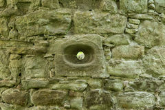 Defense hole for arrows in scone castle Royalty Free Stock Image