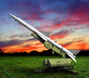 Defense missile rocket Stock Photo