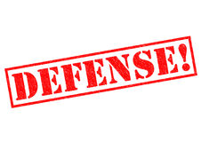 DEFENSE!. Red Rubber Stamp over a white background Royalty Free Stock Photography