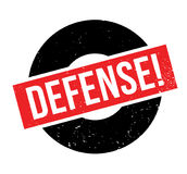 Defense rubber stamp Royalty Free Stock Image
