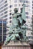 Defense statue in Paris Stock Photos