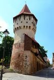 Defense Tower. In Medieval City Sibiu From Romania Stock Photos