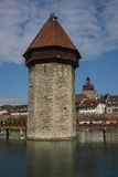 Defense tower in the center of Lucerne Royalty Free Stock Photography