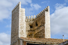 Defense tower and gate to the city of Teruel Stock Photo
