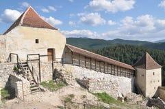 Defense tower at Rasnov fortress Royalty Free Stock Image