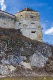 Defense tower at Rasnov Fortress, Romania stock photos