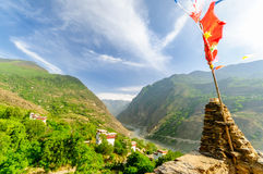Defense towers of tibetan Danba village Soupo royalty free stock images