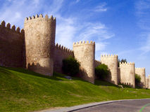 Defense wall of Avila city Stock Photography