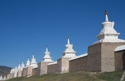 Defense wall. Karakorum, Mongolia Royalty Free Stock Photo