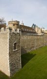 Defense walls of London Tower Royalty Free Stock Photo