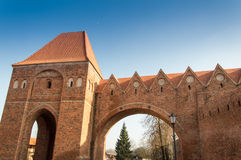 Defense walls in Torun, Poland Royalty Free Stock Image