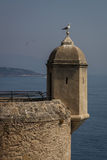 Defense watch tower, Monaco. Part of the remained sea-front defense system of Monaco Stock Photos