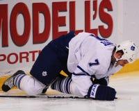 Defenseman Ian White Toronto Maple Leafs Stock Afbeelding