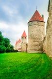 Defensietoren van stadsmuur van Tallin in Estland Royalty-vrije Stock Afbeeldingen