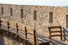 Defensiv konstruktion för stenvägg arkivfoto