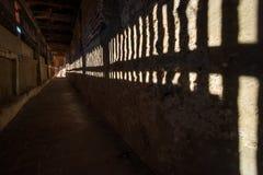Defensiv korridor i Noerdlingen royaltyfri bild