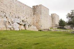 Defensiv vägg av den forntida heliga Jerusalem Fotografering för Bildbyråer
