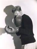 Defensive boxer stock image