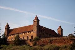 Defensive castle. Old Teutonic castle in Gniew, Poland Royalty Free Stock Photo