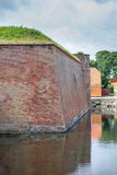 Defensive castle wall Stock Images