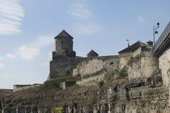Defensive Festung auf dem Felsen Stockbild