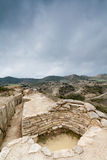 Defensive fighting position in Alcubierre, Spain Royalty Free Stock Image